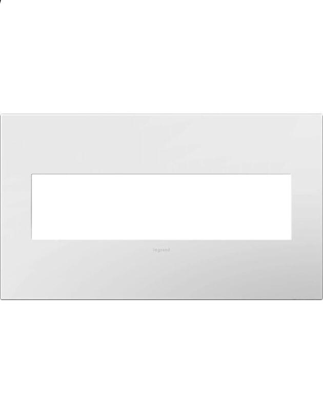 New Legrand AWP4GWH4 adorne 4 Gang Module Square Wall Plate - Gloss White