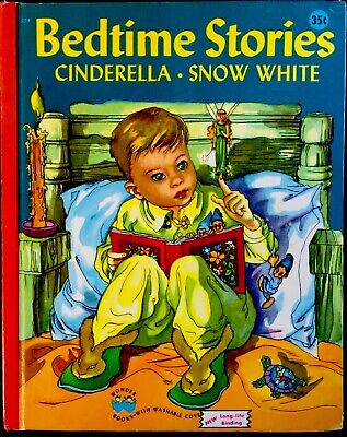 BEDTIME STORIES Snow White & Cinderella ~ Masha ~Vintage Childrens WONDER - Bedtime Stories Snow White