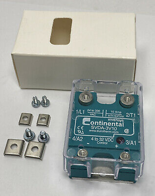 Continental Industries Solid State Relay Svda-3v10 Ssrnew Free Shipping