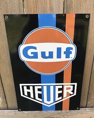 Large Gulf Heuer Team Racing Porsche Man Cave Repr