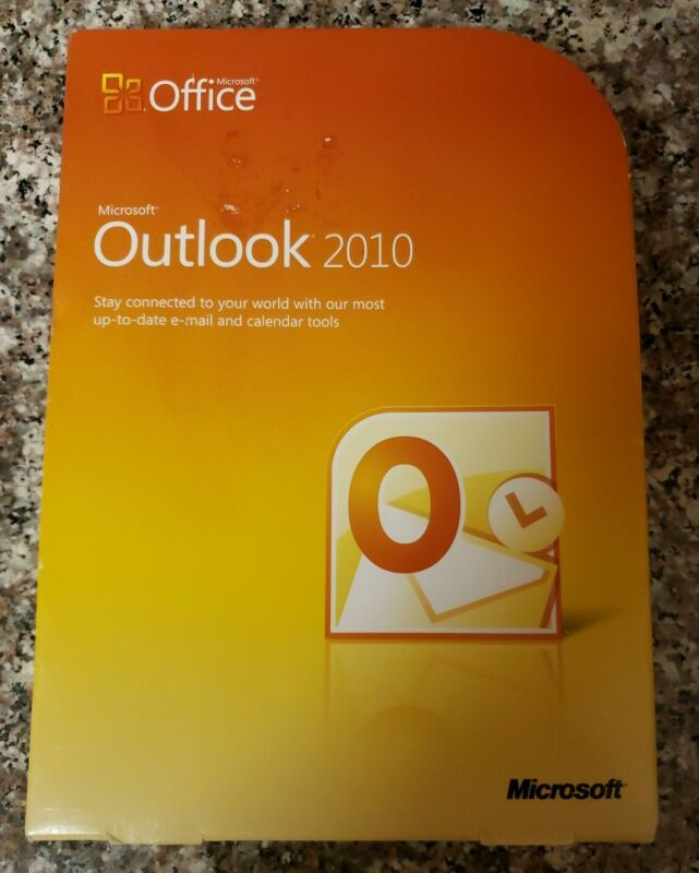Microsoft MS Office Outlook 2010 PC Software Full English Retail Version W/ Key