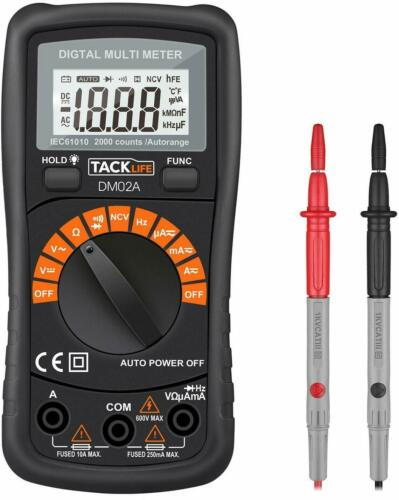 Digital Multimeter Auto-ranging with NVC, Test Amp Voltage Ohm Diode Continuity