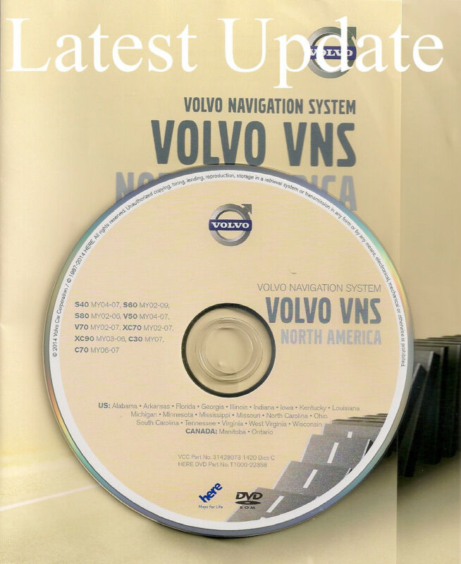 Map Usa Louisiana%0A                          Volvo S   XC   Navigation DVD Central   Southeast  Map          Alhambra CA USA