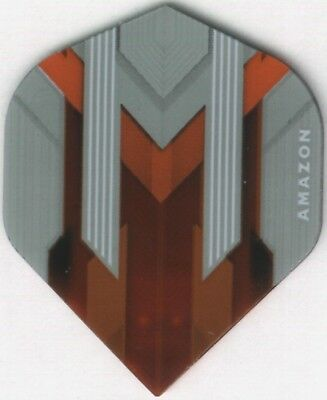AMAZON Silver/Orange Dart Flights: 3 per set