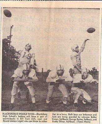 1955 Roanoke Times Va Blacksburg High School Bill Tuck Harold Absher Bobby Comer