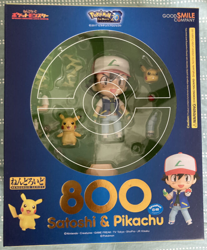 Ash & Pikachu Nendoroid #800 / Good Smile Company / PVC Figure / Used