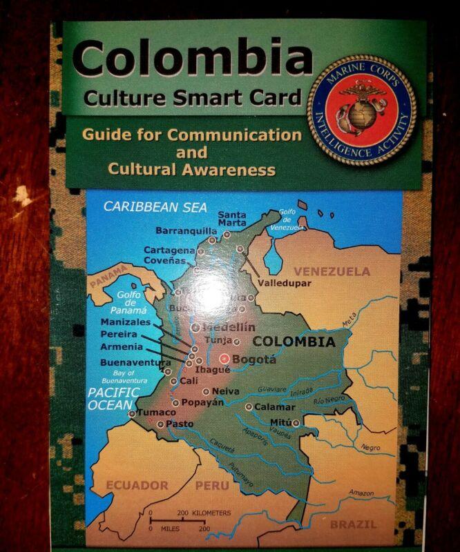 US Army USMC Columbia Cultural Smart Card