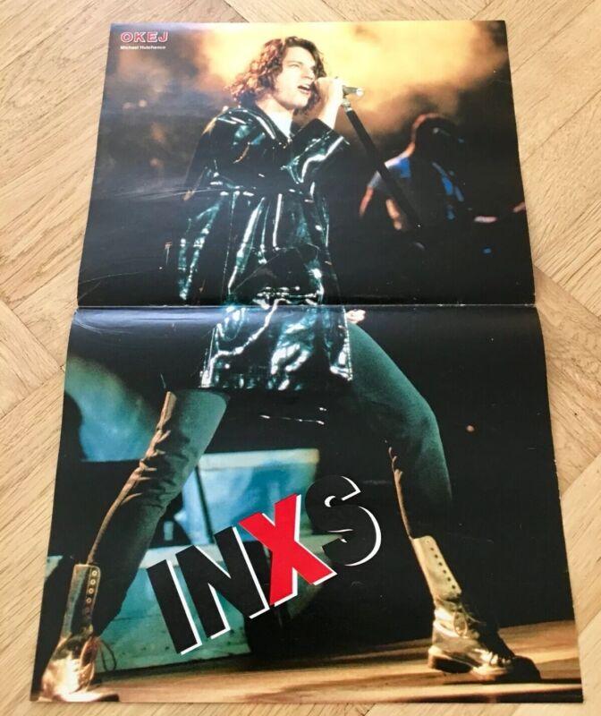 INXS 1990 Michael Hutchence Poster Swedish POP magazine Okej Vintage
