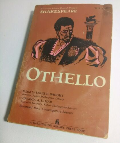 Othello By William Shakespeare Play Paperback Book Illustrated Folger Library Ed - $5.76