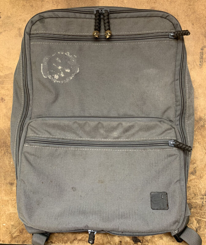 Haley Strategic Flatpack Plus - Disruptive Grey, Laptop Insert, Lrg & Sm Insert