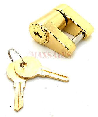 "Trailer Coupler Receiver Tow Hitch Lock Brass 1/4"" x 3/4"" Pin Latch 2 Keys"