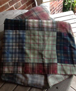 Plaid Double Bedskirt and Matching Pillow
