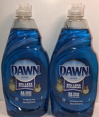 Dawn Ultra ( 2 /24 Oz  ) Hand Dish Soap Dishwashing Liquid 24 fl oz each