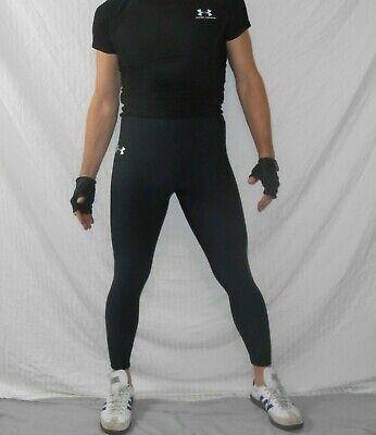 Heavyweight Spandex Tights - Under Armour ColdGear TIGHTS BLACK Compression Spandex PANTS Small