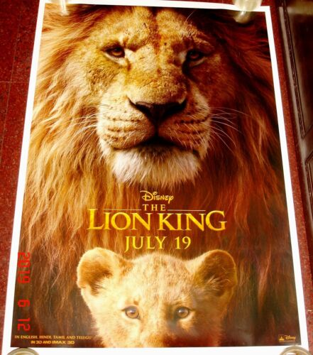 THE LION KING (2019) ORIGINAL DOUBLE SIDED DS POSTER