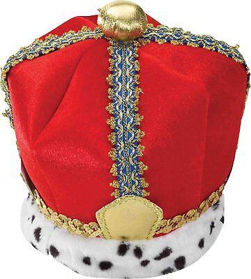 King Crown Velvet Adult Costume Accessory