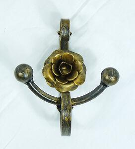 Porta accappatoio appendino accessori bagno ferro battuto forgiato mano art ab1 ebay - Accessori bagno ferro battuto ...