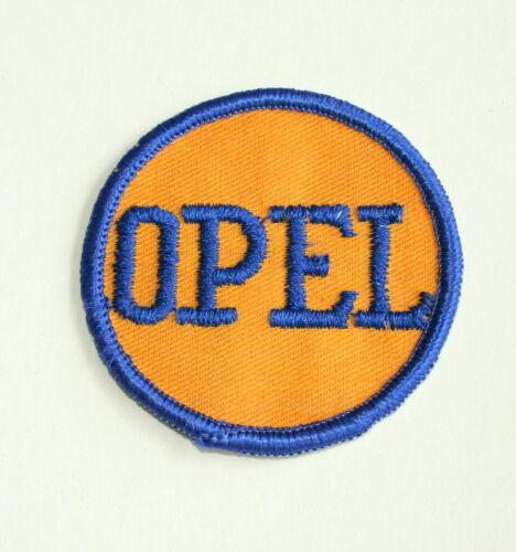 Vintage Opel Automotive Car Round Cloth Jacket Hat Patch New NOS 1960s