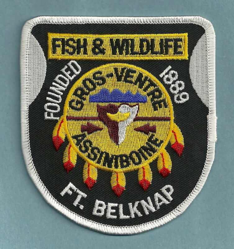 FORT BELKNAP MONTANA TRIBAL FISH & WILDLIFE ENFORCEMENT SHOULDER PATCH
