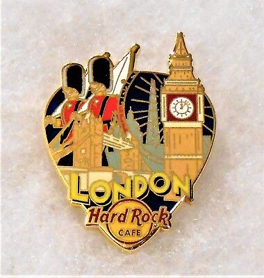 HARD ROCK CAFE LONDON GREETINGS FROM GUITAR PICK SERIES PIN # 95867