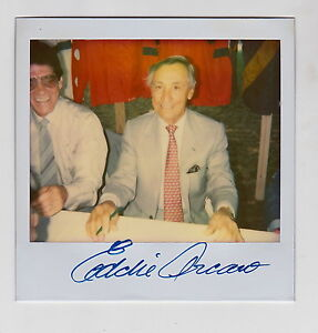 EDDIE ARCARO SIGNED ORIGINAL POLAROID PHOTO HOF JOCKEY AUTO JSA DECEASED 1997