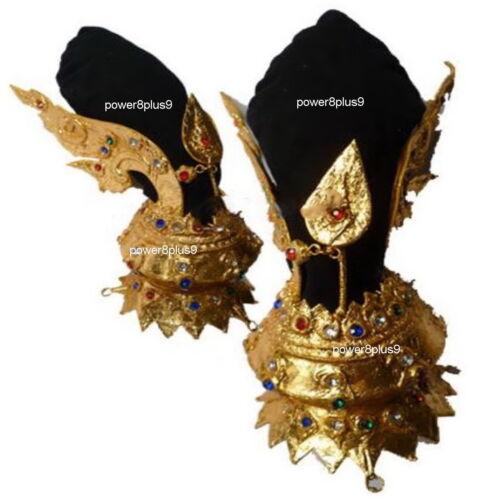 Thai Traditional HEADDRESS Gold Crown Costume Ram Dance FRONT TIARA Art Craft