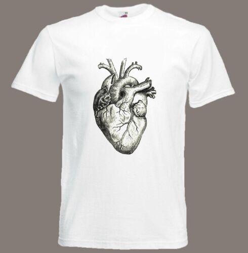 Heart t-shirt Vintage Anatomical Heart Biology Anatomy Medical Small ...