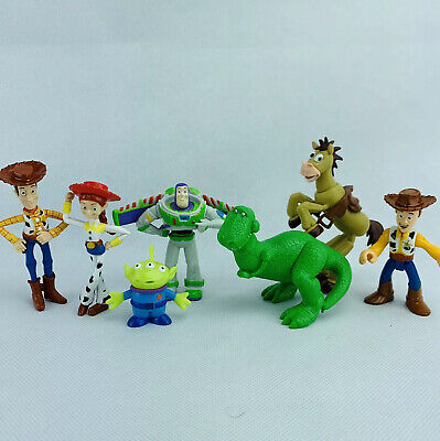 Disney Pixar Toy Story Toy Figure Lot 7 Small Action Woody Buzz Rex Jessie Alien