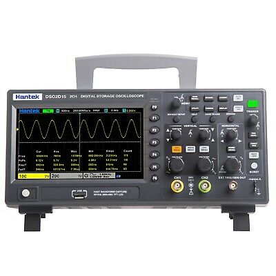 Hantek Oscilloscope Dso 2c10 2d10 2ch 100mhz Digital Storage 1gsas Generater