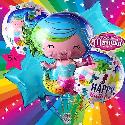 The Little Mermaid Birthday Party BALLOON Decorations ariel Unicorn TALE UNICORN
