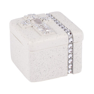 - First Holy Communion Silver Chalice 2 x 2 Inch Resin Keepsake Rosary Jewelry Box