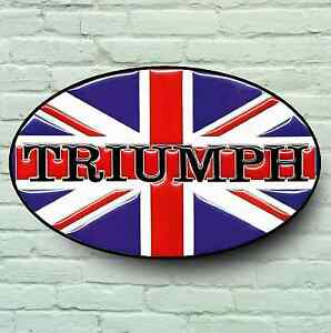 Triumph logo 2ft large garage sign plaque classic rocket for Plaque w garage assurance