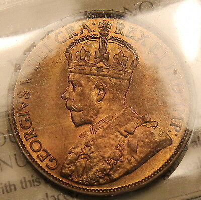 1913 CANADA LARGE CENT ICCS MS 65 RED GEM UNCIRCULATED TRENDS $1100