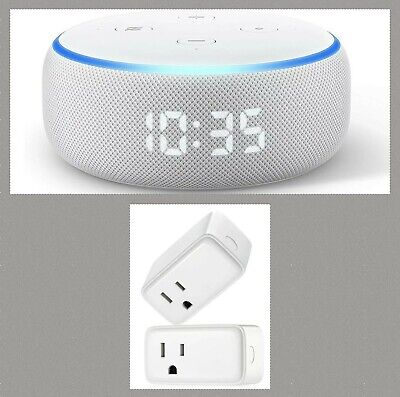 Amazon Echo Dot (3rd Generation) Smart Speaker with Clock (Sandstone) Bundle..