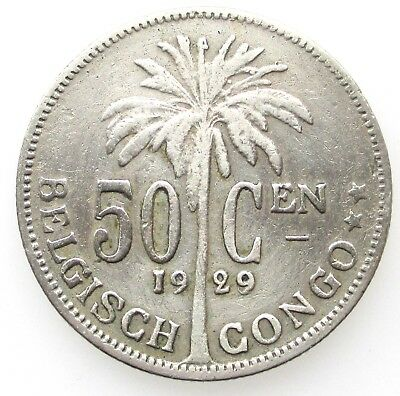 Belgisch Congo Belge 50 centimes 1929