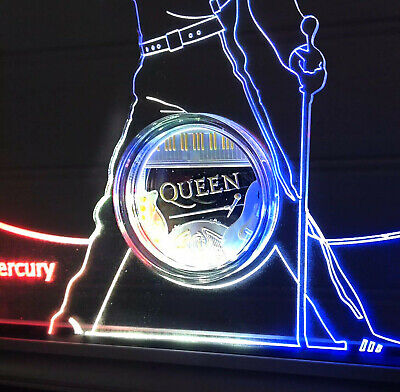 """Freddie Mercury """"the Legend"""" lamp and Queen coin holder"""