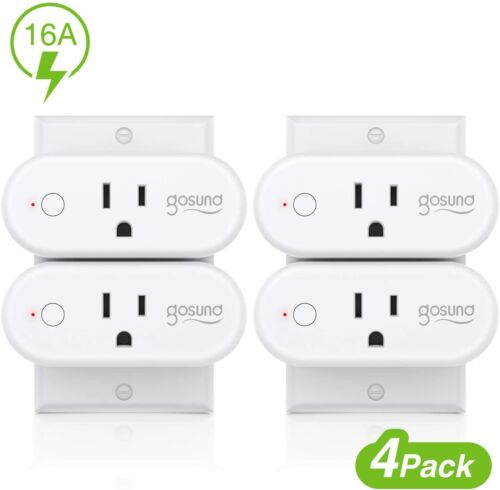Smart plug,wp six, 16A Only Supports 2.4GHz wi-fi (pack of 4) used (scratch,mark
