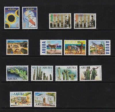 Aruba - 6 sets from 1998-99, mint, cat. $ 31.90