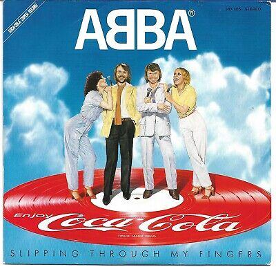 "ABBA - Slipping Through My Fingers - Rare 1981 Japanese Coca-Cola vinyl 7"""
