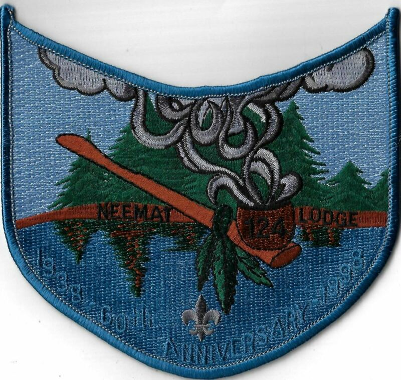 OA Neemat Lodge 124 1938-1998 60th Anniversary  BLU Bdr. Moby Dick, MA [MX-14182