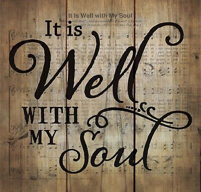 It is Well with My Soul Hymn Sheet Music 10 x 11 Wood Pallet Wall Art Plaque