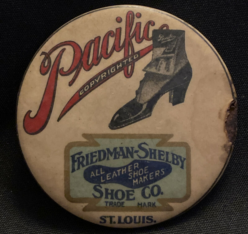 1900s Pacific Friedman Shelby Shoe Company Advertising Mirror St Louis Missouri