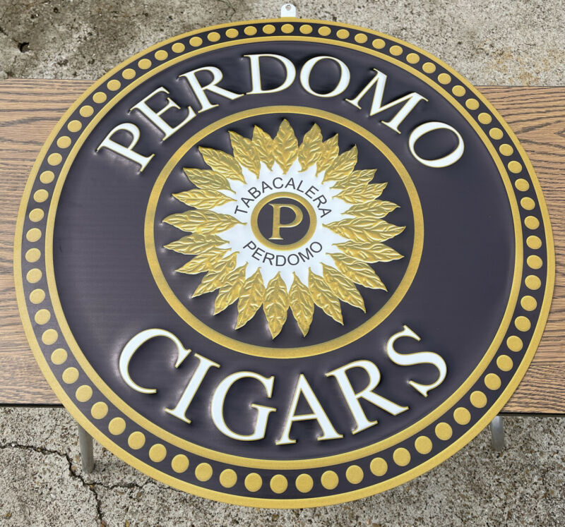 Perdomo Cigars Metal Sign 24 Inches
