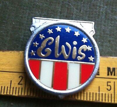 true  vintage  Anstecknadel  Pin  Button  Musik   Elvis