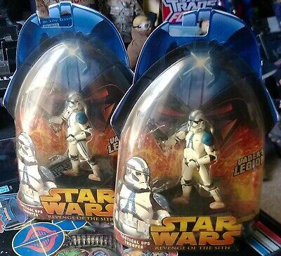 2 3.75 Star Wars Stormtrooper 501st Clone Troopers figures ROTS