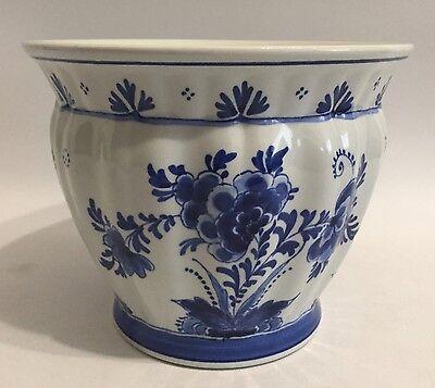 De Porceleyne Fles Blumentopf Delfter Blau Holland Delft Flower Pot