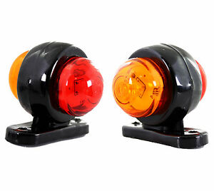 2 x 24v led rouge orange feux de gabarit camion caravane remorques mod mini ebay. Black Bedroom Furniture Sets. Home Design Ideas