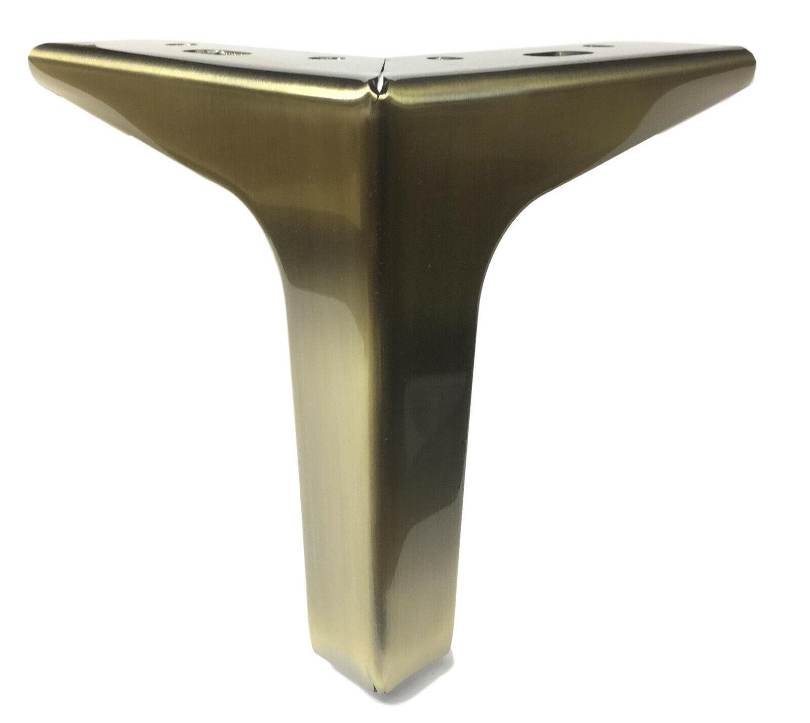 5″ Brushed Brass Finish Straight Metal Furniture Legs – Set of 4 Furniture