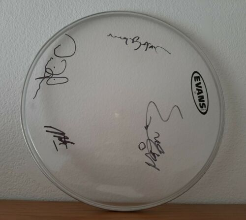 """12"""" Evans Drum Head, Signed by Band, SOUL ASYLUM!"""