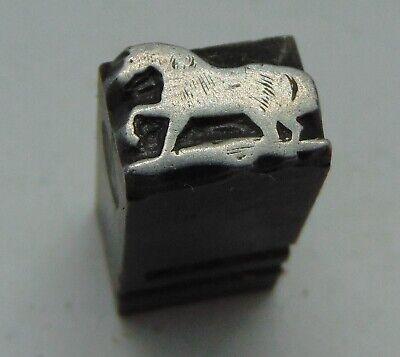 Vintage Printing Letterpress Printers Block Small Lead Horse